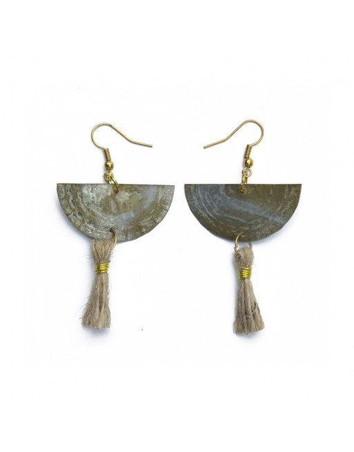 Bottle Cap & Tassels Earring
